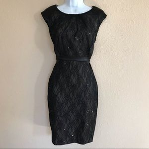 Collection dressbarn black lace cocktail dress